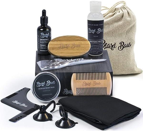 Beard Grooming & Trimming Kit | Beard Brush & Comb