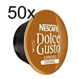 50 X Nescafe Dolce Gusto Coffee Capsules - Espresso Caramel Coffee Capsules (Color: Brown, Tamaño: 50)