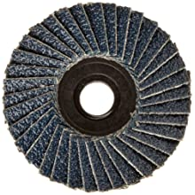 "Weiler BobCat 2"" Diameter, 60 Grit, Zirconium, Plastic Backing, Specialty Abrasive Flap Mini Disc"