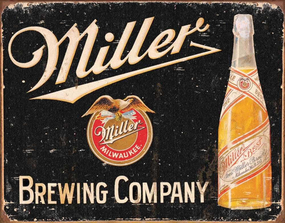 Miller Brewing Vintage Tin Sign , 16x12 0