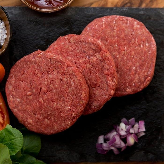 40 (4oz) Organic, Grass-Fed Beef Patties via Amazon
