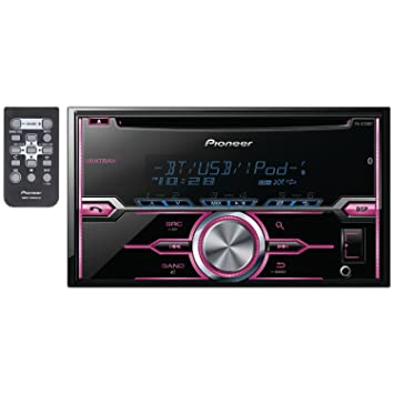 Pioneer FHX720BT Pioneer Double Din CD/MP3 Receiver Aux Input USB Bluetooth MultiColor Illumination Remote