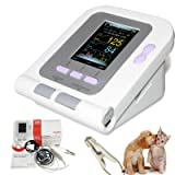 Cat/Dog/Animal/Vet Automatic Blood Pressure Monitor Electronic Sphygmomanometer Tonometer SPO2 Tongue Probe PC Software CONTEC08A-VET (Tamaño: small,handheld)