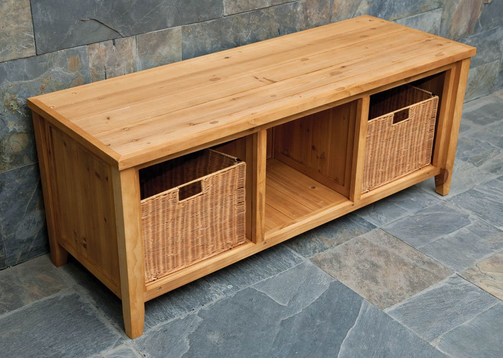 Wood Storage Bench ~ End of bed storage benches ottomans and chests olivia s place