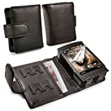 TUFF LUV Genuine Western Leather Case Cover for Cowon Plenue D / D2 (2nd Gen) - MP3 - Black (Color: black)