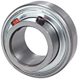 Peer Bearing FHSR205-16 Insert Bearing, FHSR200 Series, Narrow Inner Ring, Cylindrical Outer Ring, Non-Relubricable, Set Screw Locking Collar, Single Lip Seal, 1