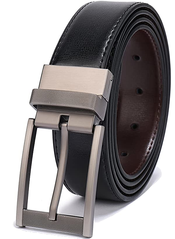 Burnt Umber Belts For Men 1.25 Inch Wide Real Leather Classic Dress Belt