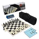 Wholesale Chess Tournament Starter Combo with Clock & Scorebooks (Black)