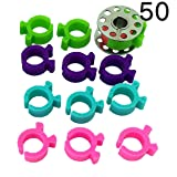 PeavyTailor 50 Bobbin Holder Clamp Clips Bobbin Buddies Great for Embroidery Quilting Sewing Thread