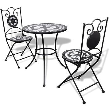 LD mesa de jardín de mosaico mosaico mesa mosaico Bistro silla asiento Grupo Muebles de Jardín