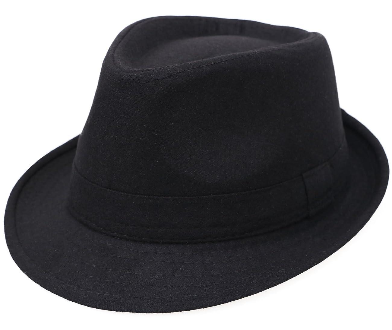 Simplicity Women Men's Fashion Fall / Winter Dapper Fedora Hat w/ Wide Brim 0