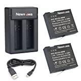 Newmowa Replacement Battery (2-Pack) and Dual USB Charger Kit for Xiaomi Mijia
