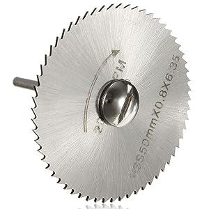 Lukcase 6pcs 1/8 HSS High Speed Steel Circular Saw Blades For Dremel Rotary Tool W/Shank