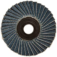 "Weiler BobCat 2"" Diameter, 80 Grit, Zirconium, Plastic Backing, Specialty Abrasive Flap Mini Disc"