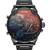 Diesel Men's DZ7395 Mr. Daddy 2.0 Black IP Watch (Color: Black)