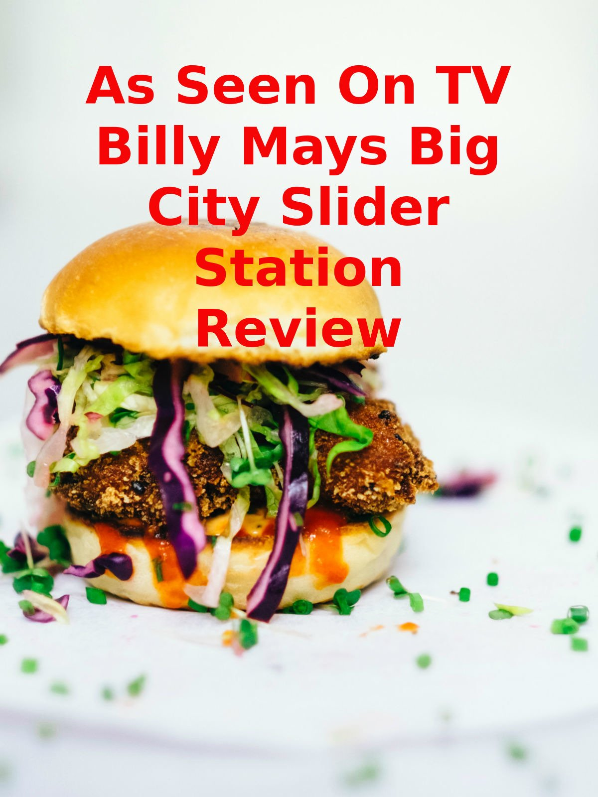 Review: As Seen On TV Billy Mays Big City Slider Station Review