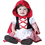InCharacter Costumes Baby Girls' Little Red Riding Hood Costume, Red/White, Medium (Color: Red/White, Tamaño: Medium)
