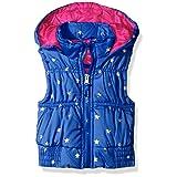 Pink Platinum Little Girls' Toddler Foil Star Puffer Vest, Royal, 2T