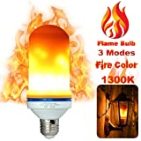 Shop Smart Enterprise LLC LED Flame Effect Light Bulb, E26 LED Flickering Flame Light Bulbs, Lighting Vintage Flaming Light Bulb for Bar/Festival Decoration/Mood Light 105pcs 2835 SMD 5W LED Beads.  (Color: Orange, Tamaño: 1)