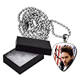 Jared Leto Thirty Seconds to Mars Flag Style Metal Guitar Pick Necklace Chain