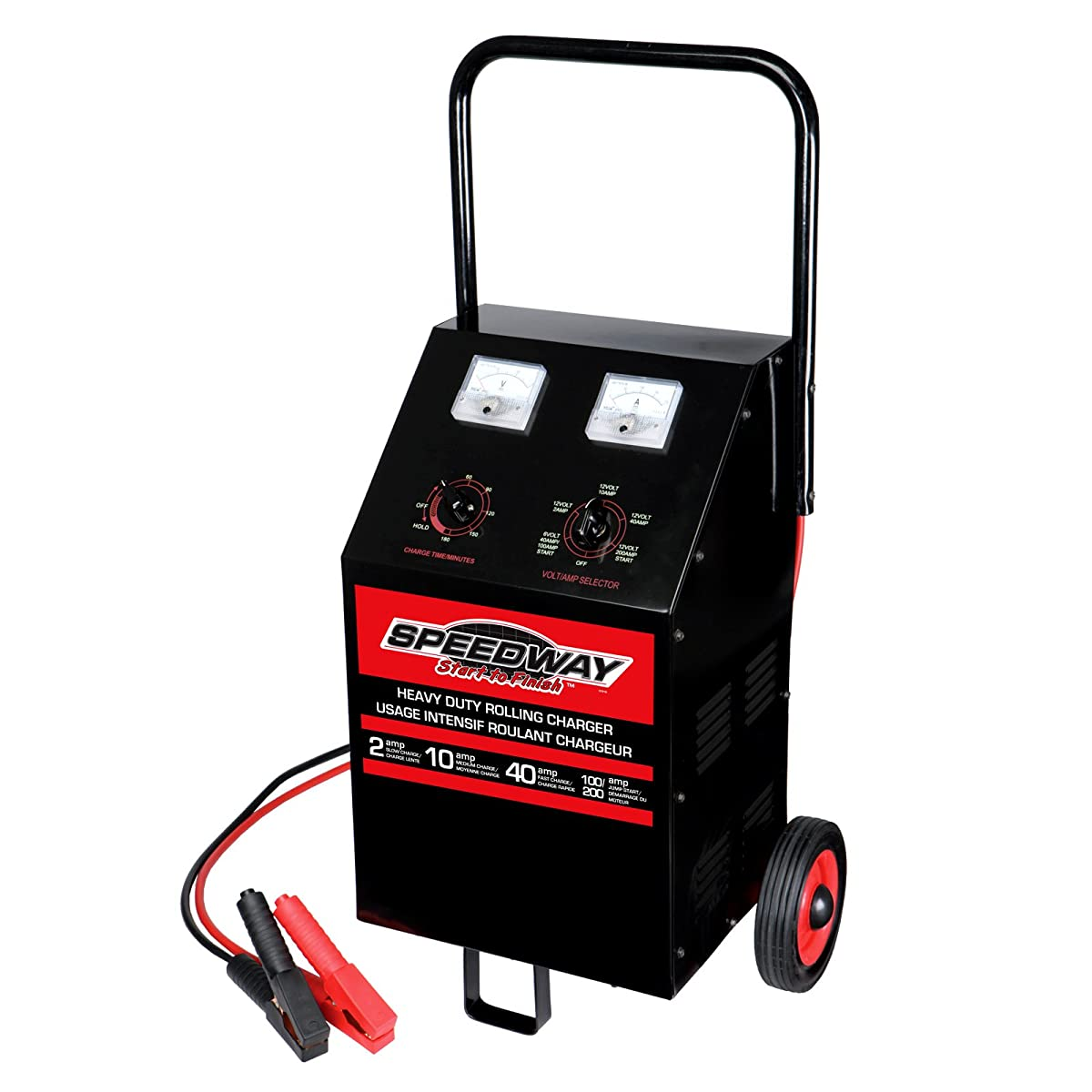 Speedway 7216 Wheeled 200-100-40-20-2 Amp Battery Charger and Starter