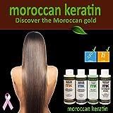 Moroccan Keratin Most Effective Brazilian Keratin Hair Treatment SET 120ML x4 Professional Salon Formula Shipping Available Worldwide (Tamaño: 120ml x 4)