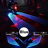 CLighting LED Auxiliary Lights Angel Wings Driving Rock Lamp for Car Motorcycles Jeep Trucks Off Road Bicycle Kawasaki Harley ATV SUV Vehicle Boat (Blue) (Color: Blue)