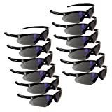 Rugged Blue Mojave Safety Glasses (Blue Mirror Case of 12) (Color: Blue Mirror Case of 12)