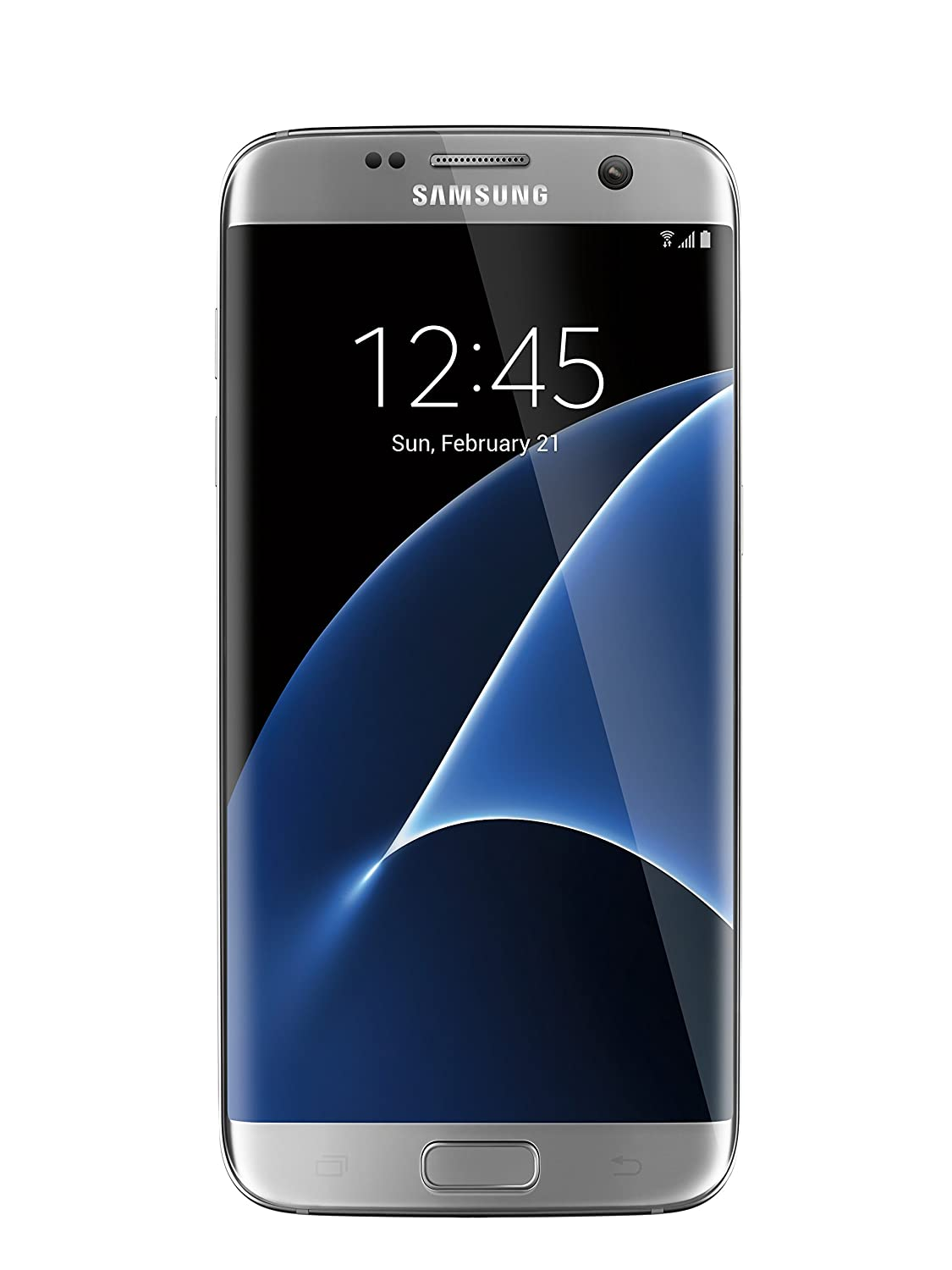 Samsung Galaxy S7 Edge G935F Unlocked Phone - Retail Packaging - Titanium Silver (International Version)
