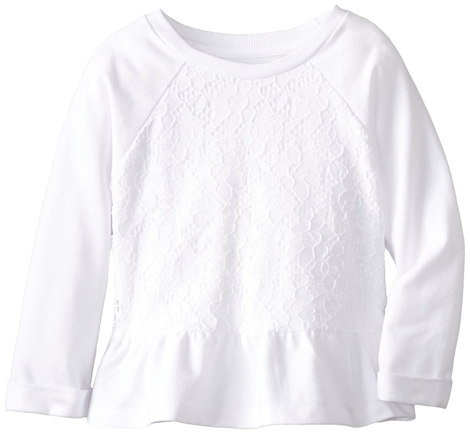The Children's Place Little Girls' Lace Peplum Top