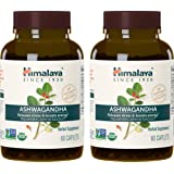 Himalaya Organic Ashwagandha, Adaptogen for Stress-relief, Cortisol level support and Energy Boost, 60 Caplets, 670 mg (2 PACK) (Tamaño: 60 Capsules (Pack of 2))