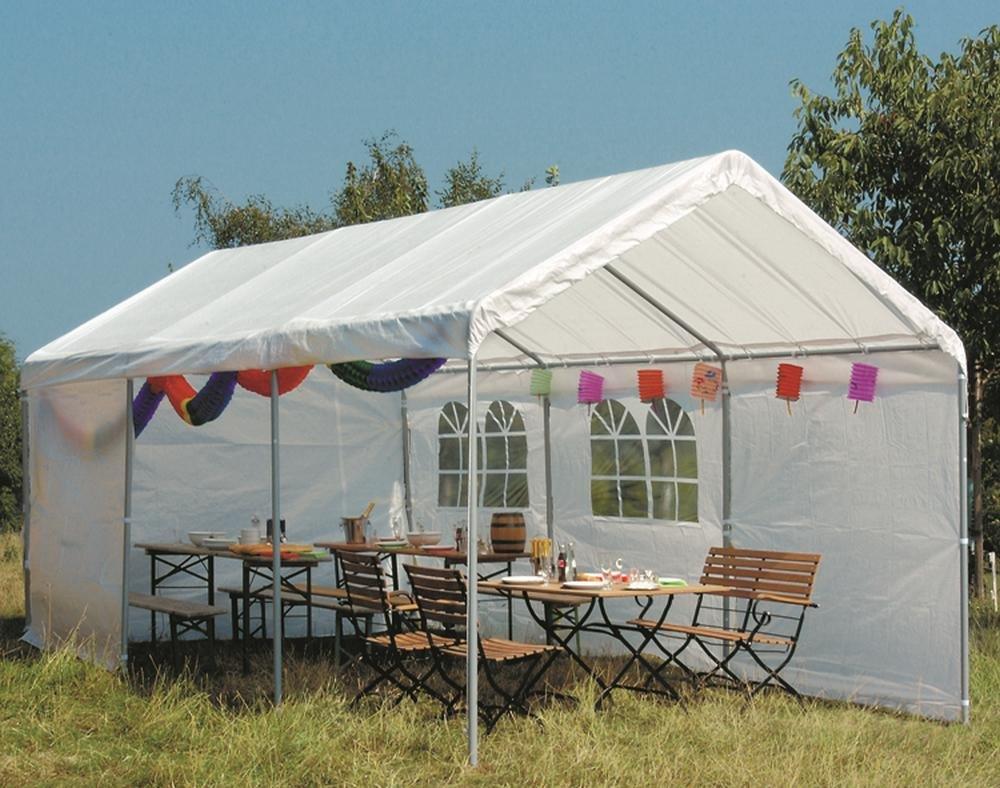 Siena Garden 455962 Ersatzdach für Autopavillon 4 x 8 m PVC, weiß