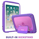 New iPad 9.7 2018/2017 Case for Kids, Mumba iPad 9.7 Inch Protective Case for Apple iPad 5th/6th Generation [KIDO Series] [Kickstand] [Shoulder Strap](Purple) (Color: Purple)