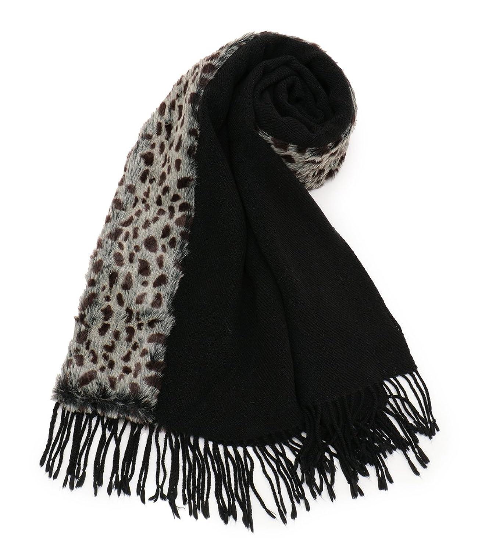 (エーシーデザインバイアルファキュービック)A/C DESIGN BY ALPHA CUBIC フェイクファー付きストール 356068-10 05 黒 フリー : 服&ファッション小物通販 | Amazon.co.jp