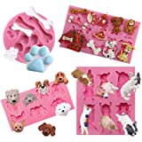 Funshowcase Puppy Dogs Fondant Mold 4-Count (Color: Puppy Theme Molds 4-count)