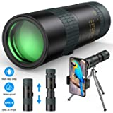 Monocular Telescope - 8-24X30 Zoom Retractable Compact Monocular with Holder & Tripod Pocket Monocular Scope for Smartphone - HD High Power BAK4 Prism for Bird Watching (Tamaño: 8x24-30)