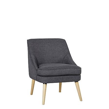 Svart Sessel / Cocktailsessel / Loungesessel Webstoff dunkelgrau