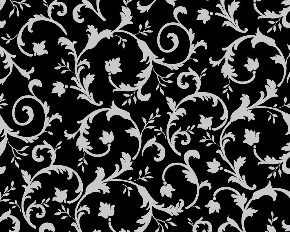 Muster Tapeten Kostenlos : Schwarzwei?-Blumen-Tapete Bilders