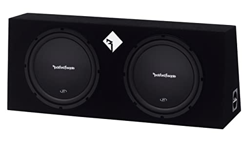 Rockford Fosgate Prime R1L-2X12 Double R1 12-Inch Pre-Loaded Enclosure