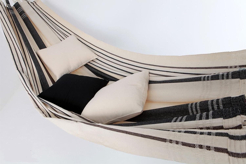 Brasil Comfort Premium Cafe Doppelhängematte aus Brasiien Baumwolle
