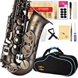ENGRAVED FLOWER Glory High Grade Antique finish series PR3, E Flat Alto Saxophone with 11reeds,8 Pads cushions,case,carekit (Color: Series PR3)