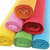 Just Artifacts Premium Crepe Paper Rolls - 8ft Length/20in Width (6pcs, Color: Fiesta) (Color: Fiesta)