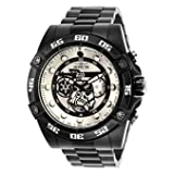 Invicta Men's 'Star Wars' Quartz Stainless Steel Casual Watch, Color:Black (Model: 26515) (Color: white)