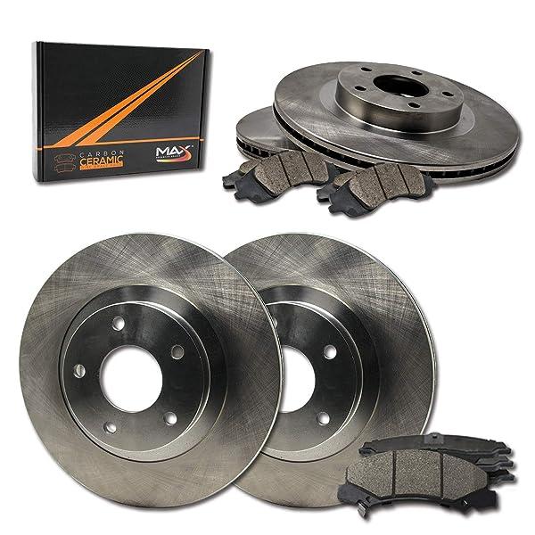Rear Brake Rotors Ceramic Pads Kit Fits 2006-07 Monte Carlo 2006-10 Impala