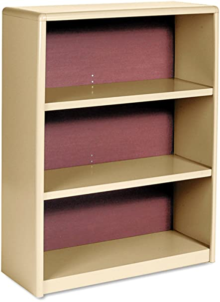 Safco Value Mate Series Bookcase, 3 Shelves, 31-3/4 W by 13-1/2 D by 41 H, Black
