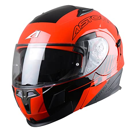 Astone Helmets RT1000GEX-ARKO-BRL Casque Modulable RT1000, Arko Rouge, L