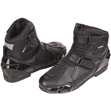 Modeka cOURSER bottes de moto en cuir noir