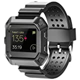 Moretek Blaze Fitness Wristbands, Resilient Rugged Protective Frame Case Strap Bands for Fitbit Blaze Fitness Smartwatch Straps Accessory Sport Replacement Band (NewBlack) (Color: NewBlack (6.00-8.60inches))