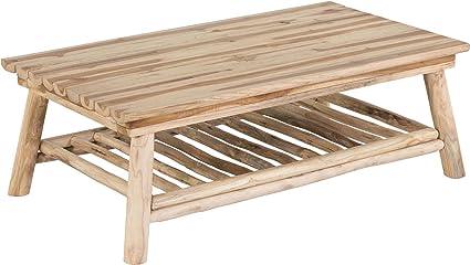 Table basse en teck 2 plateaux Refuge