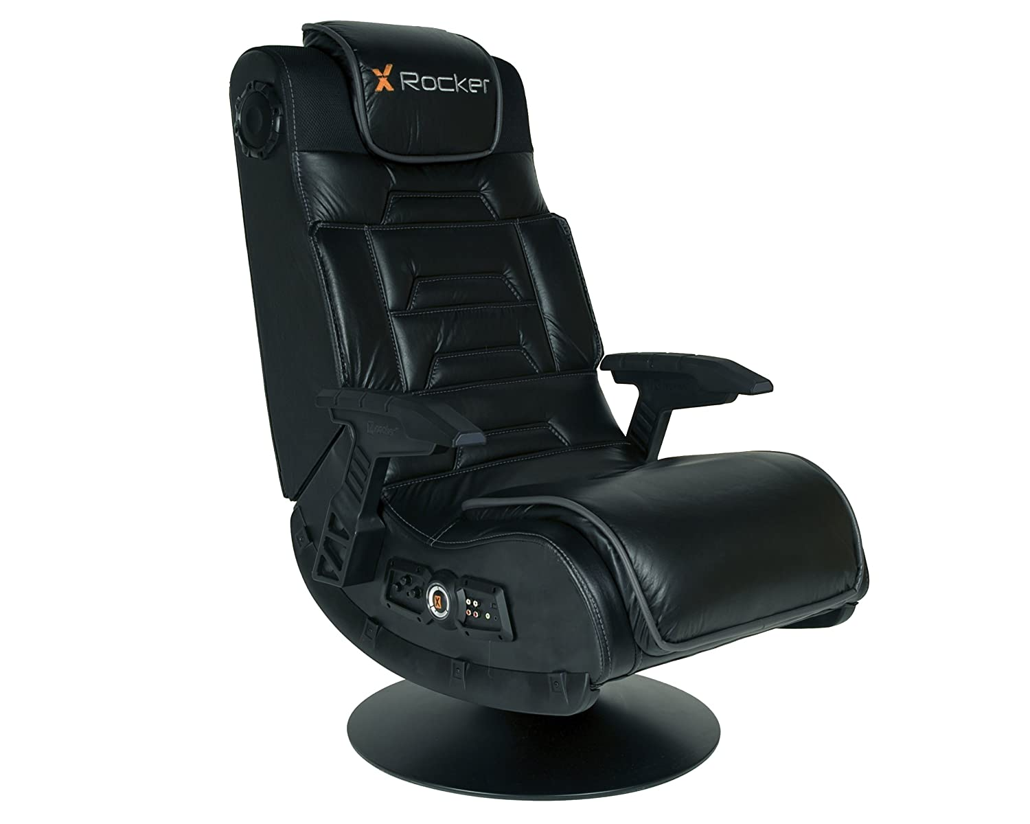 New x rocker pro video gaming chair tilting swivel base gamer home